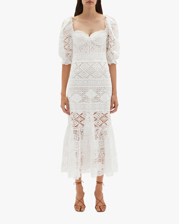 Jonathan Simkhai Eden Puff-Sleeve Bustier Midi Dress 2