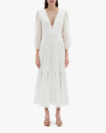 Jonathan Simkhai Lara Puff-Sleeve Midi Dress 2