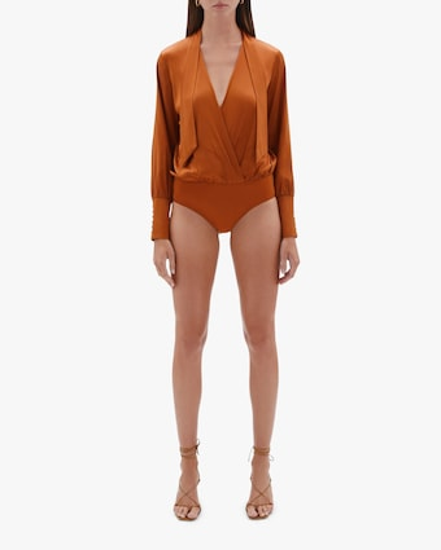 Jonathan Simkhai Tess Wrap-Front Bodysuit 1