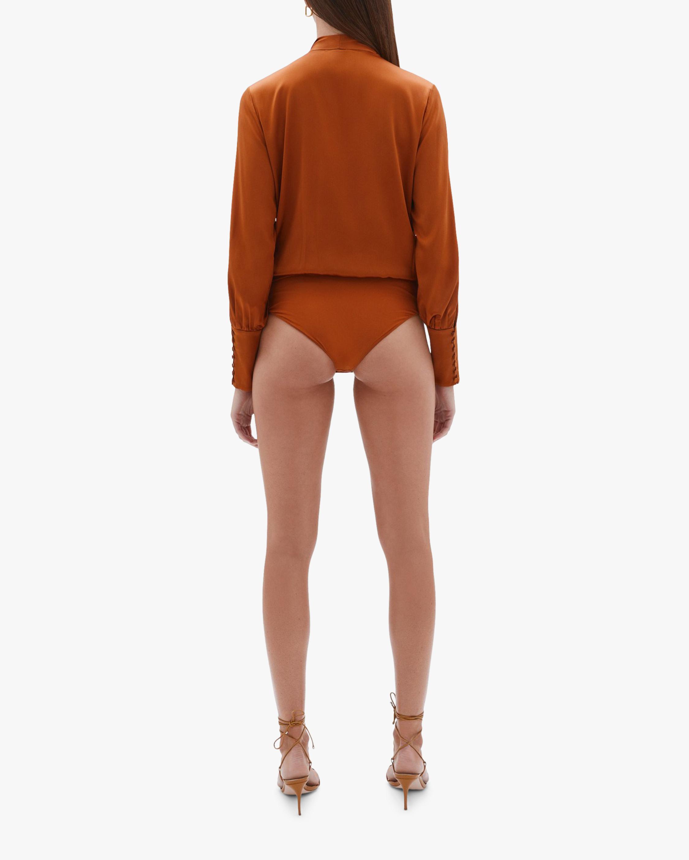 Jonathan Simkhai Tess Wrap-Front Bodysuit 2