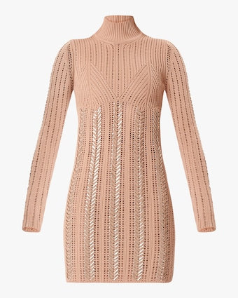 Herve Leger Braided Metallic Mini Dress 1