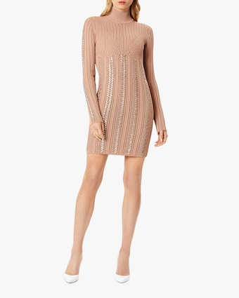 Herve Leger Braided Metallic Mini Dress 2