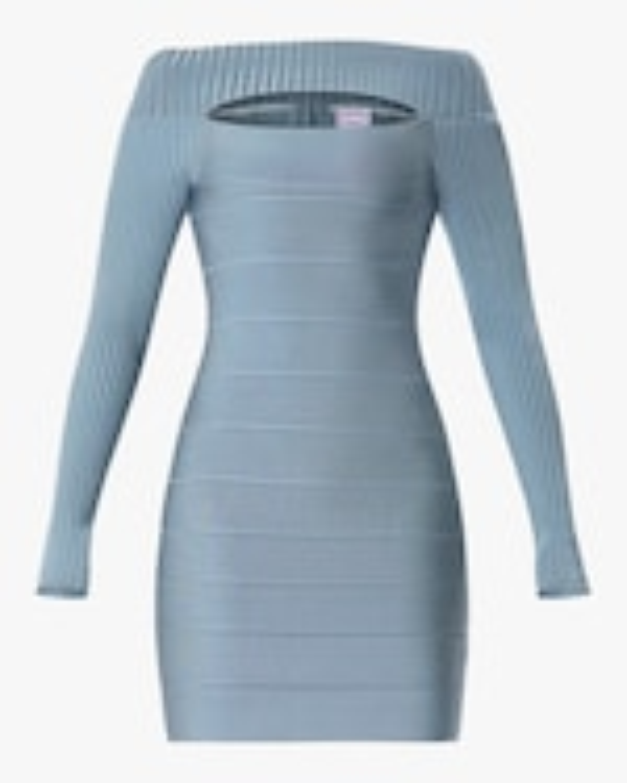Herve Leger Cutout Boatneck Mini Dress 0