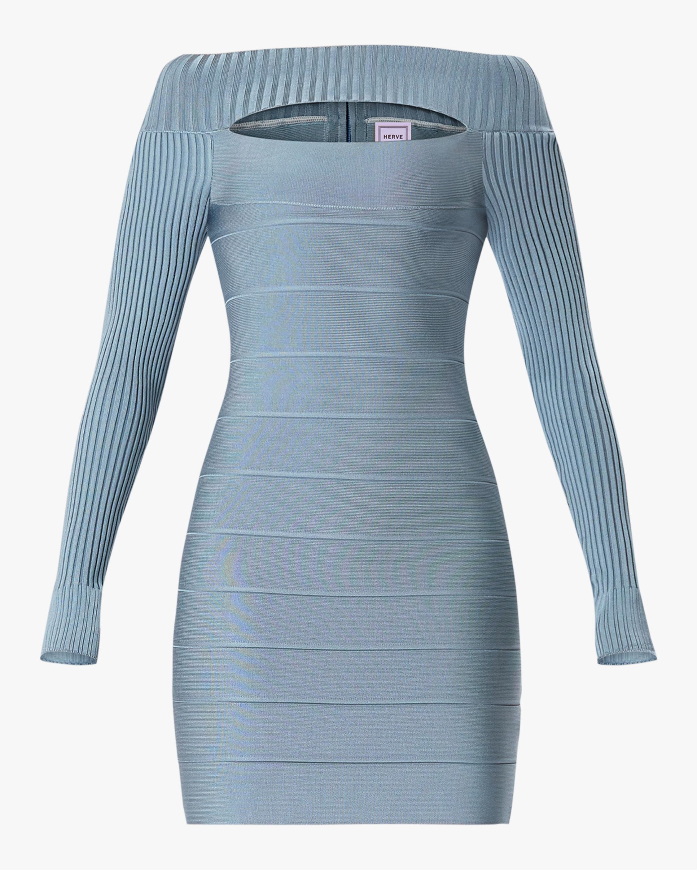 Herve Leger Cutout Boatneck Mini Dress 1