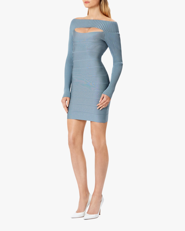 Herve Leger Cutout Boatneck Mini Dress 2