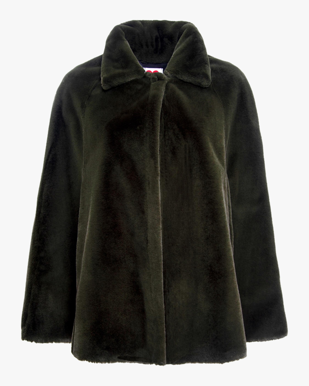 Notch Collar Faux Fur Cape