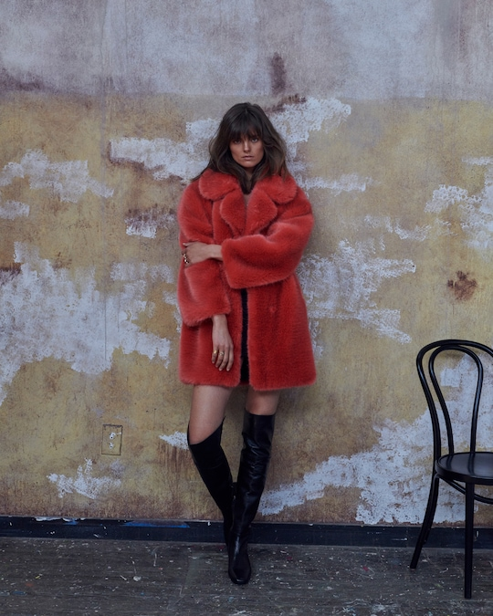 House of Fluff Fox Oversized Faux Fur Peacoat 1