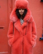 House of Fluff Fox Oversized Faux Fur Peacoat 2