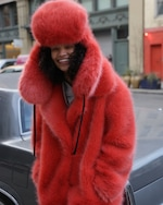 House of Fluff Fox Oversized Faux Fur Peacoat 3