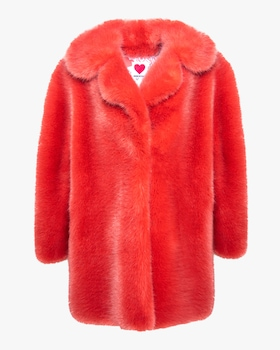 Fox Oversized Faux Fur Peacoat