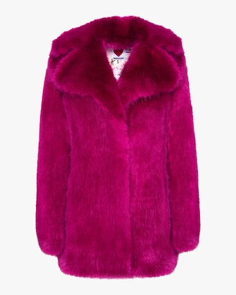 House of Fluff Classic Fox Faux Fur Peacoat 1