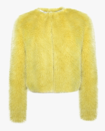 House of Fluff Cropped Fox Jacket 1