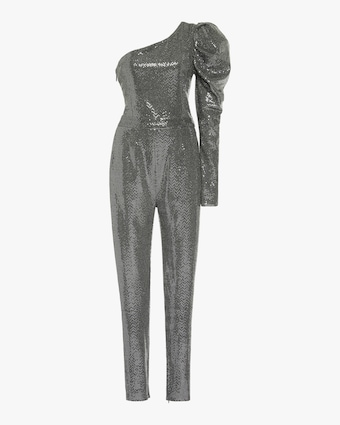 SemSem One-Sleeve Sequin Jumpsuit 1