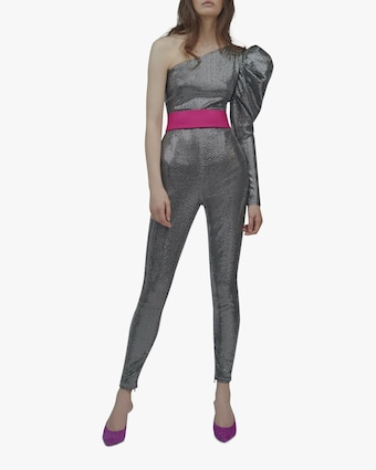 SemSem One-Sleeve Sequin Jumpsuit 2