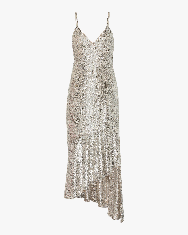 SemSem Asymmetric Sequin Midi Dress 1