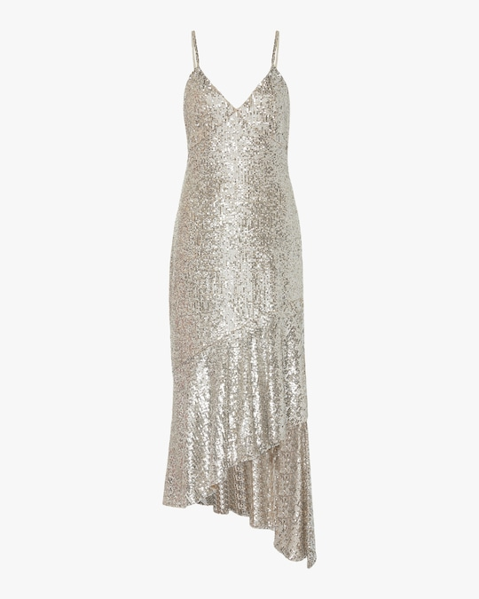 SemSem Asymmetric Sequin Midi Dress 0