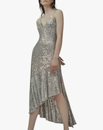 SemSem Asymmetric Sequin Midi Dress 1
