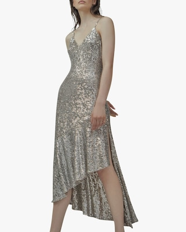SemSem Asymmetric Sequin Midi Dress 2