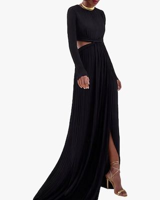 SemSem Cutout Pleated Gown 2