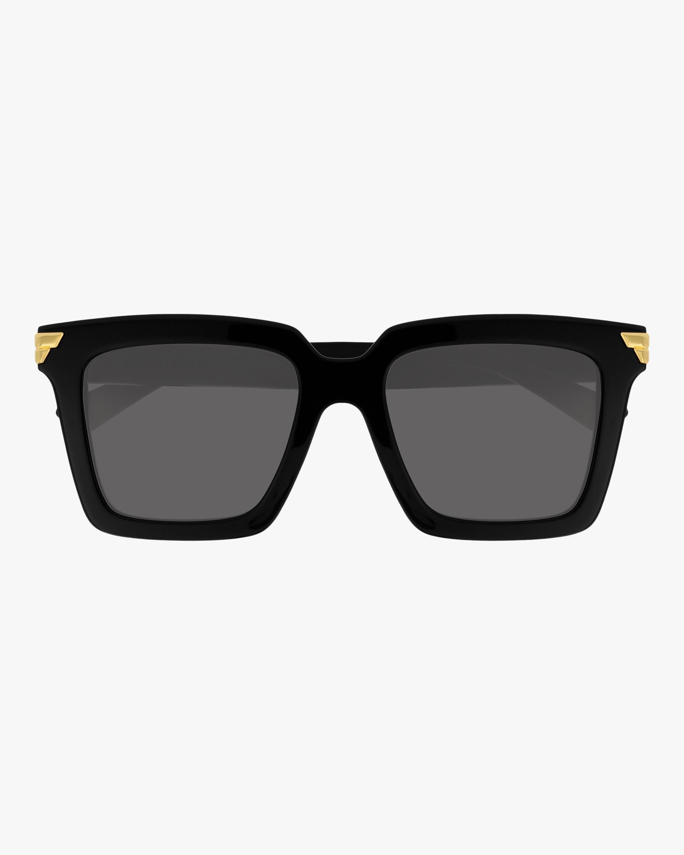 Bottega Veneta Black Rectangular Sunglasses 1