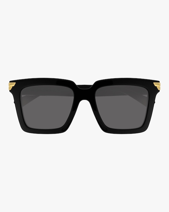 Bottega Veneta Black Rectangular Sunglasses 0