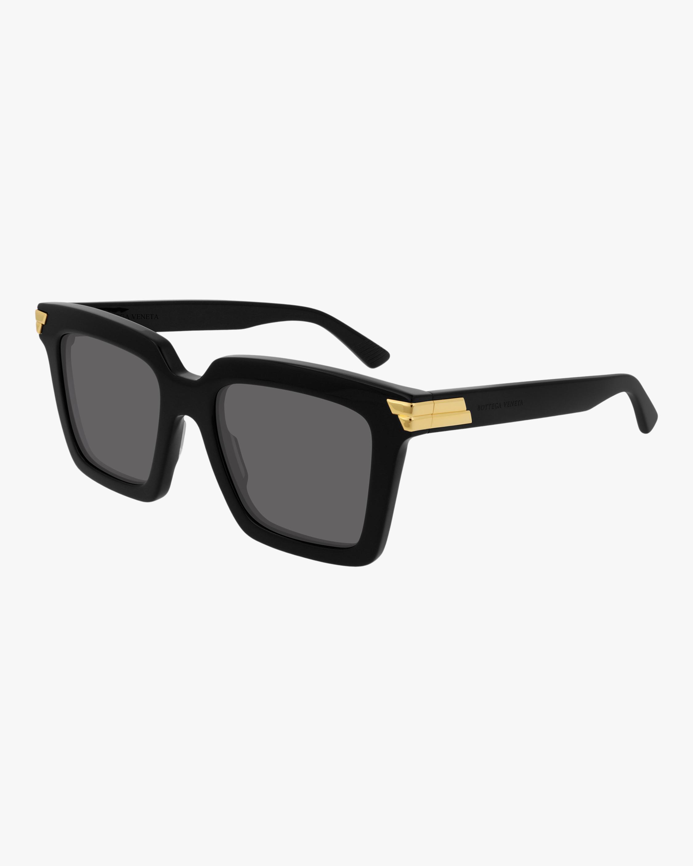 Bottega Veneta Black Rectangular Sunglasses 2