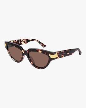 Spotted Havana Oval Sunglasses