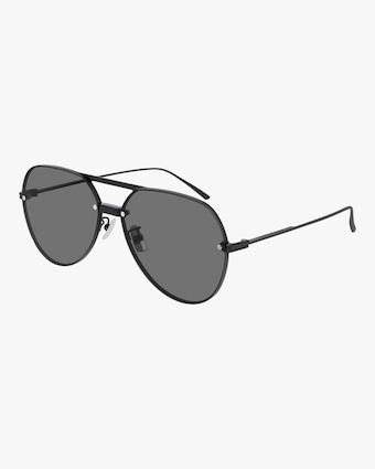 Bottega Veneta Black Aviator Sunglasses 1