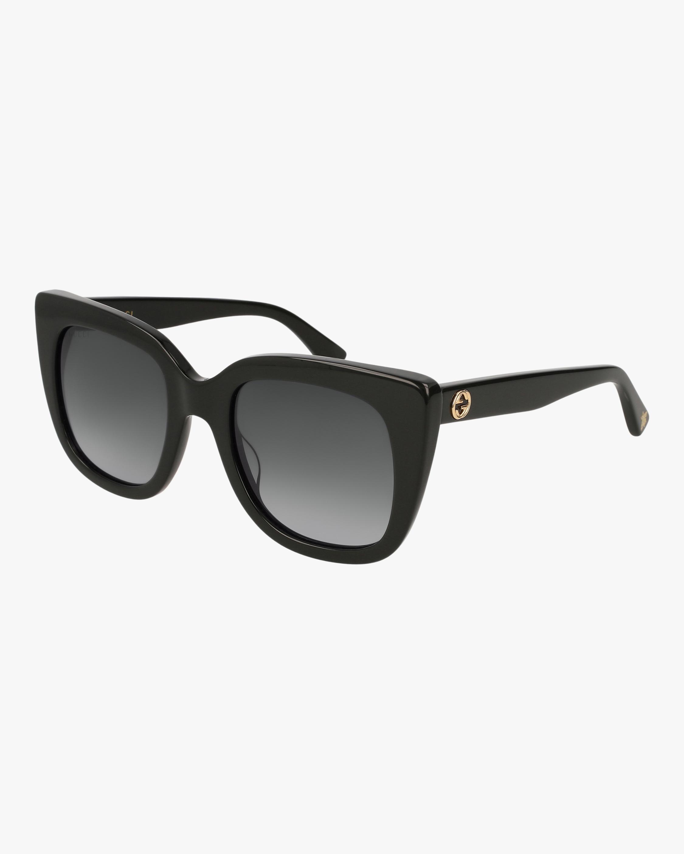 Gucci Black Cat-Eye Sunglasses 2