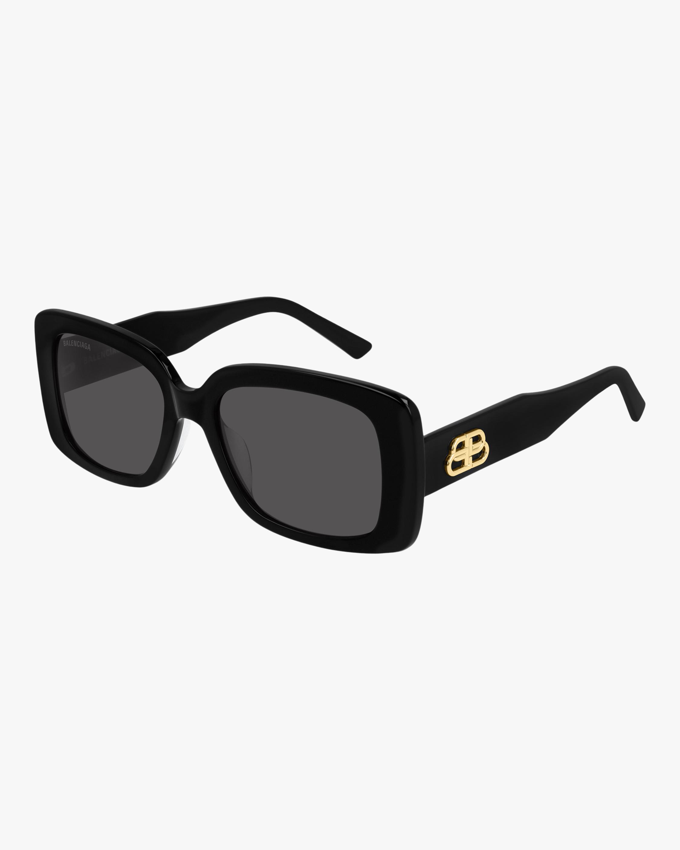Balenciaga Black Rectangular Sunglasses 2