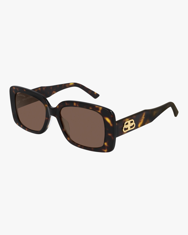 Balenciaga Dark Havana Rectangular Sunglasses 2