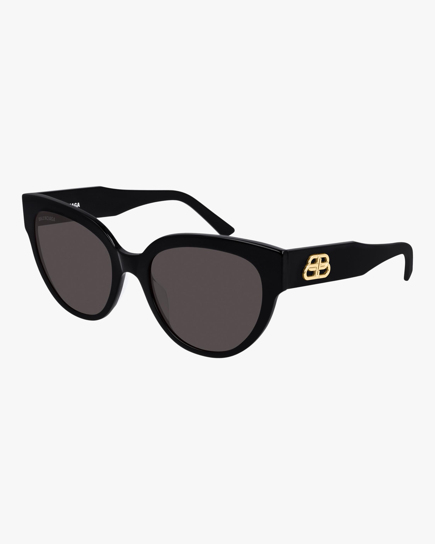 Balenciaga Black Cat-Eye Rounded Sunglasses 2