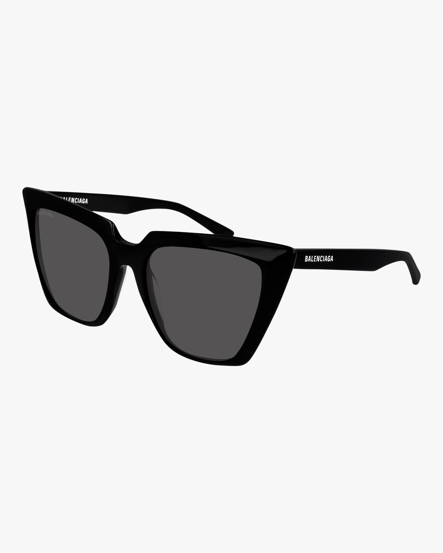 Balenciaga Black Cat-Eye Sunglasses 2