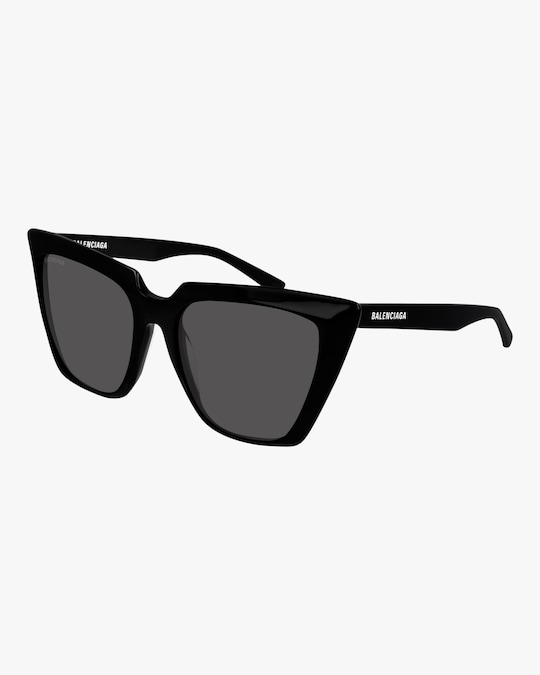 Balenciaga Black Cat-Eye Sunglasses 0