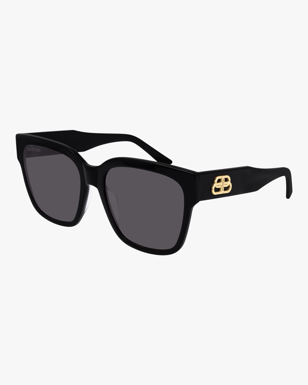 Black Cat-Eye Square Sunglasses
