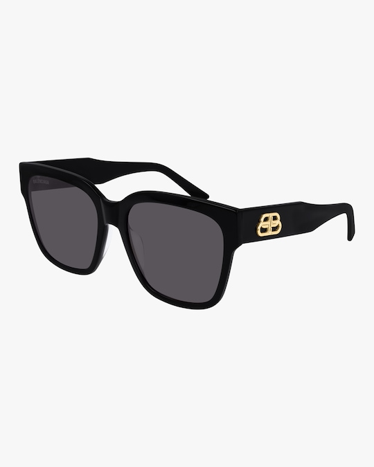 Balenciaga Black Cat-Eye Square Sunglasses 0