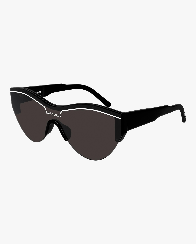 Balenciaga Black & White Trim Cat-Eye Sunglasses 2
