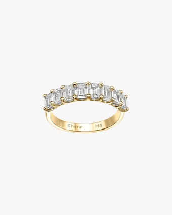 Chérut Emerald-Cut Diamond Half-Eternity Band 1