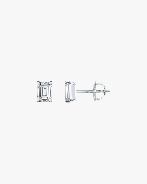 Chérut Small Emerald-Cut Diamond Stud Earrings 1
