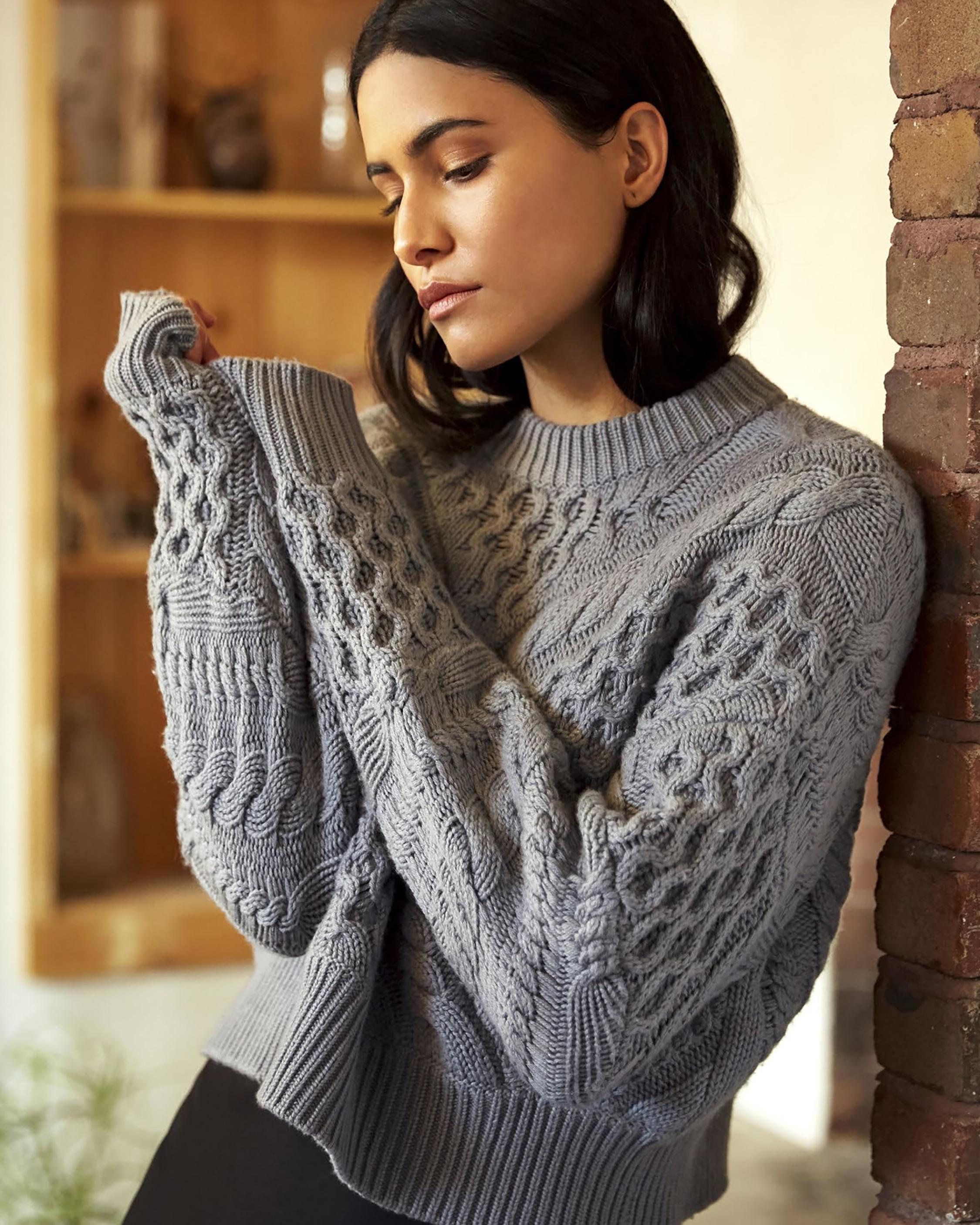 Naadam Cable Crewneck Sweater 2