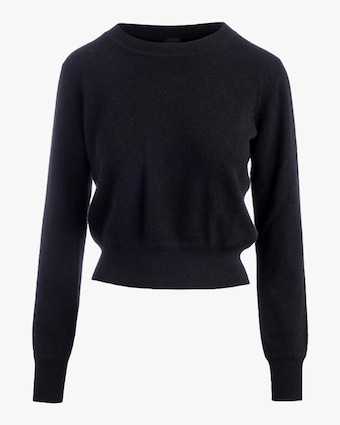 Naadam Long-Sleeve Cropped Cashmere Pullover 2