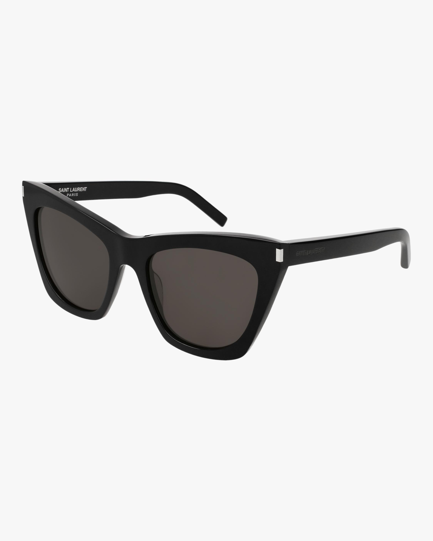 Saint Laurent Black Cat-Eye Sunglasses 2