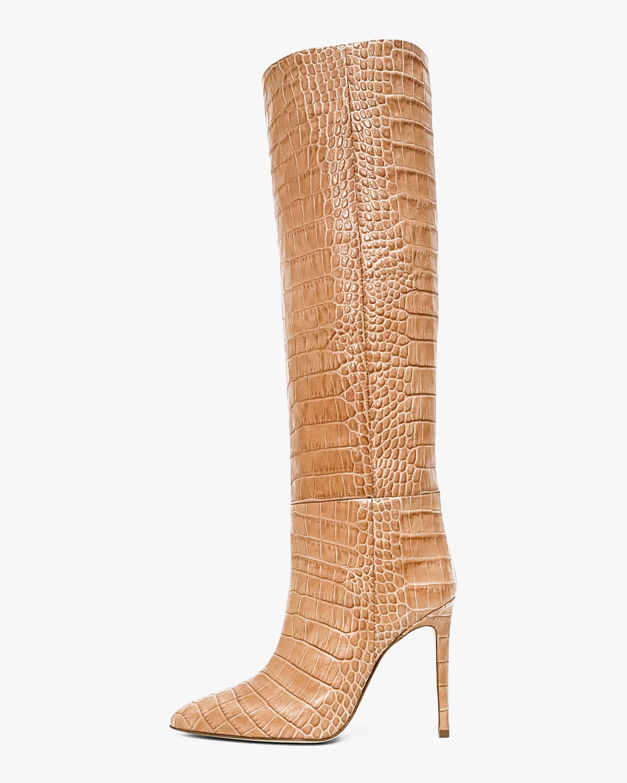 Paris Texas Croc-Embossed Leather Boot 0