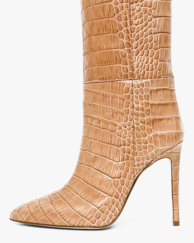 Paris Texas Croc-Embossed Leather Boot 2