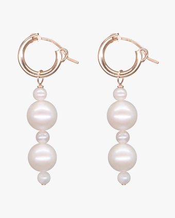 NST Studio Crystal Quartz & Pearl Hoop Earrings 2
