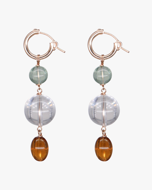 NST Studio Quartz Drop Hoop Earrings 2