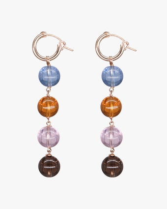 NST Studio Quartz Drop Hoop Earrings 2