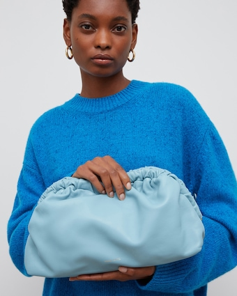 Mansur Gavriel Degas Blue Cloud Clutch 2