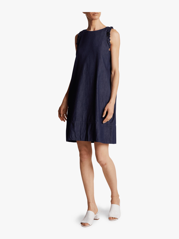 Cotton Denim A-Line Dress