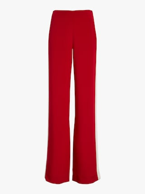 Silk Crepe Wide Leg Pants